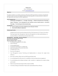 Strategic Planning Resume Chethan Inventory Planner Resume 33