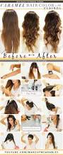 how to color hair at home caramel brown ombre