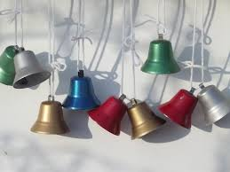 50s metal bell ornaments vintage decorations in
