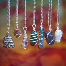 necklace wire images Chakra stone wire wrap necklaces for energetic balance jpg