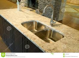 Modern Kitchen Sinks by Kitchen Sink On Granite Counter Stock Photos Image 11590673