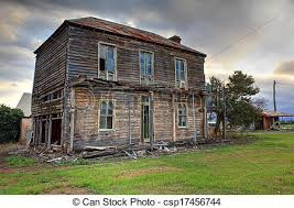 two farmhouse stock photo of abandoned two wooden farmhouse a