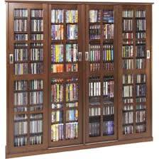 Multimedia Cabinet With Glass Doors Mission Style Narrow Bookshelf With Sliding Glass Doors 63 W 10