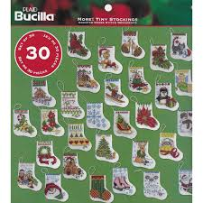 bucilla seasonal counted cross stitch ornament kits more