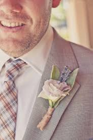Groom S Boutonniere Real Weddings Lavender Peach Wedding Colors Grooms Boutonniere
