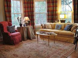 Striped Sofas Living Room Furniture by Good Living Room Using Used Furniture And Stripes Curtains And