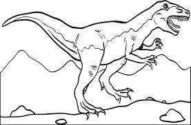 free printable rex dinosaur coloring kids 2
