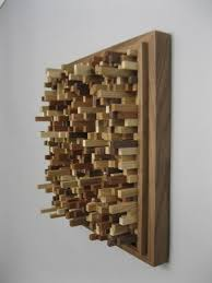 abstract sculpture wood sculpture and wall hangings on