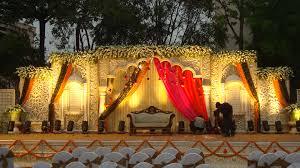 wedding hall decoration in hyderabad wedding planner stage
