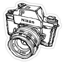 nikon f classic film camera illustration