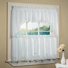 interior white cafe curtains for attractive living room window design