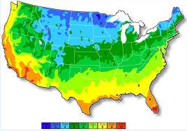 Gardening Zones Uk - map of usa growing zones map of usa growing zones map of north