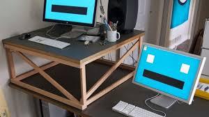 Standing Desk For Cubicle Diy Standing Desk Cubicle Home Design Ideas
