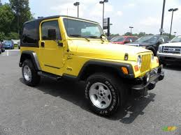 yellow jeep 2000 solar yellow jeep wrangler sport 4x4 32177891 gtcarlot com