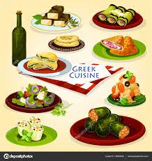 cuisine grecque affiche de dessin animé pour le lunch santé cuisine grecque image