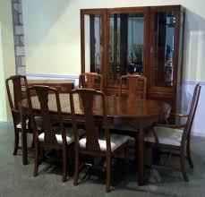 dining room simple dark table and comfy chairs for colonial dining