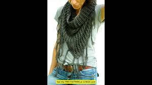 ribbon yarn crochet scarf pattern youtube