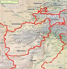 Time Zone Maps Afghanistan Time Zone Map Topographic Map
