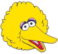 image big bird face sesame street party big bird