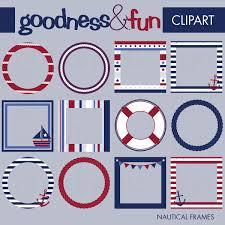 themed frames buy 2 get 1 free nautical frames clipart digital nautical