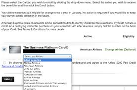 maximizing the amex platinum airline fee credit before year end