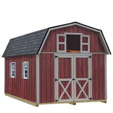 best barns woodville 10 ft x 12 ft wood storage shed kit with