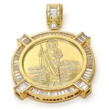 religious pendants gold tone 05 185 0015 1 gt religious pendant san judas design