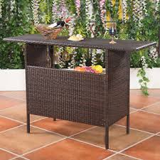 High Table Patio Furniture Outdoor Bar Table Ebay