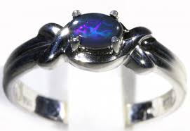 blue opal engagement rings solid black opal 18k white gold engagement ring