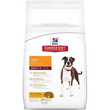 dry dog food hills science diet light with chicken meal