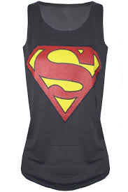 women u0027s sleeveless round neck muscle racer back superman batman t