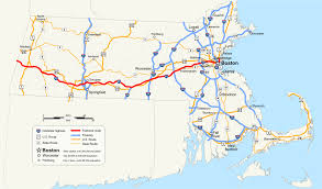 Map Of Boston Harbor by Massachusetts Turnpike Wikipedia