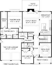 Two Story Rectangular House Plans House Plan 2310 Kennsington Floor Plan 2310 Square Feet 34 U0027 0