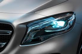 mercedes headlights mercedes benz gla concept sports laser video projector headlights