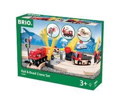 brio 33208 rail u0026 crane train set