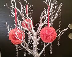 tree branch centerpieces hanging crystals for manzanita tree centerpiece trumpet vase