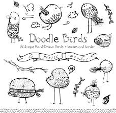 doodly bird clipart images cute bird drawings doodle bird