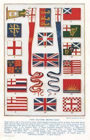 antique print yacht club flags vintage nautical print boat flags