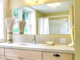 Bathroom Mirrors Frameless Bathroom Frameless Mirror Bathroom Bamboo Basket White Brick