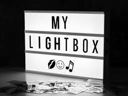 cinematic light box designist