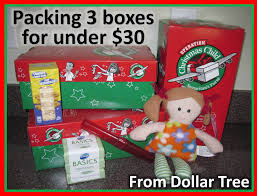 Dollar Tree Christmas Items - simply shoeboxes packing three operation christmas child