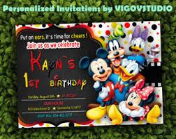 invitaciones de mickey mouse clubhouse por kidspartyprintables