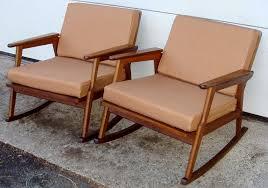 mid century modern rocking chair classic u2014 farmhouses