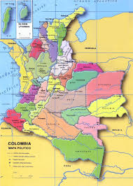 Colombia South America Map by