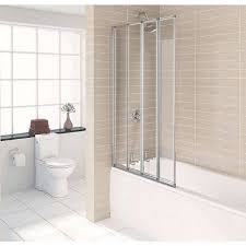 1400 shower bath with 4 folding screen