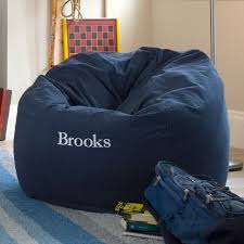 navy washed twill beanbag pbteen