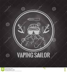 halloween website background vaping sailor circle logo with vaporiser and anchors on the