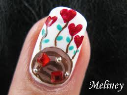 valentine mashup nail art tutorial roses hearts chocolates