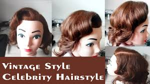 vintage style celebrity hairstyles for long hair easy curly hair
