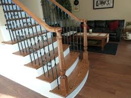 Banister Rails For Stairs Custom Stair Iron Balusters For Atlanta Marietta Dunwoody